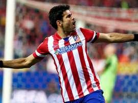 Diego Costa, celebrando un tanto con el Atlético. ClubAtléticodeMadrid