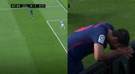 Diego Costa was injured in the match. Screenshot/Movistar LaLiga