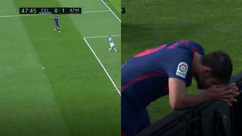 Diego Costa se lesionó. Capturas/MovistarLaLiga
