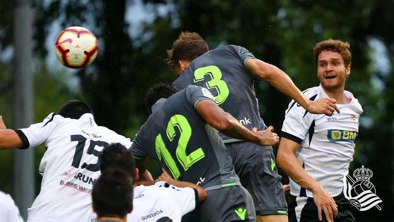 Llorente marcó el gol de la Real Sociedad. Twitter/RealSociedad
