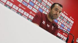Diego Martínez analizó el empate en Las Palmas. GranadaCF
