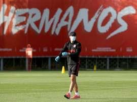 Diego Pablo Simeone destacou a importância da solidez defensiva. Twitter/Atleti