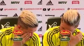 No pudo reprimir las lágrimas. Captura/EsporteInterativo