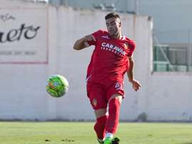 Diego Rico, en un partido con el Real Zaragoza. Twitter