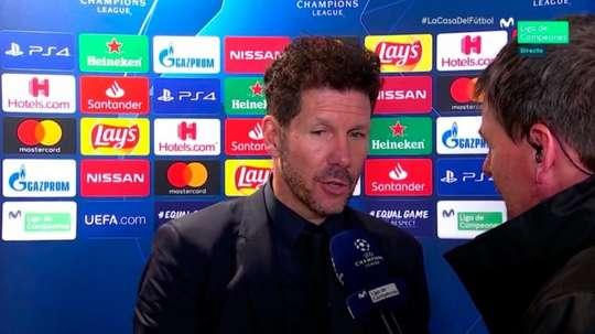 Simeone parla del calcio italiano. Movistar