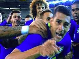 Diego Souza marcó a los 10 segundos de empezar el partido. Twitter