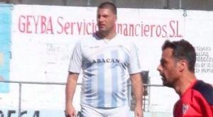 Diego Tristán, durante su reaparición con el Atlético Algabeño. Twitter