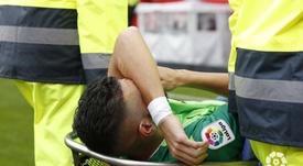 Siovas se lesionó la rodilla a los diez segundos. LaLiga