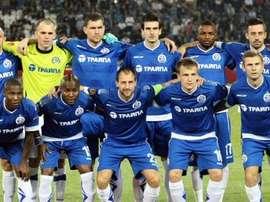 Dinamo Minsk, antes de un partido. Twitter