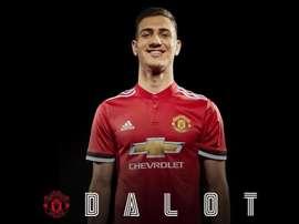 Dalot a rejoint Manchester United. Twitter/ManUtd