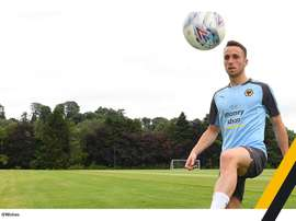 Diogo Jota ha convencido a los 'wolves'. Twitter/Wolves