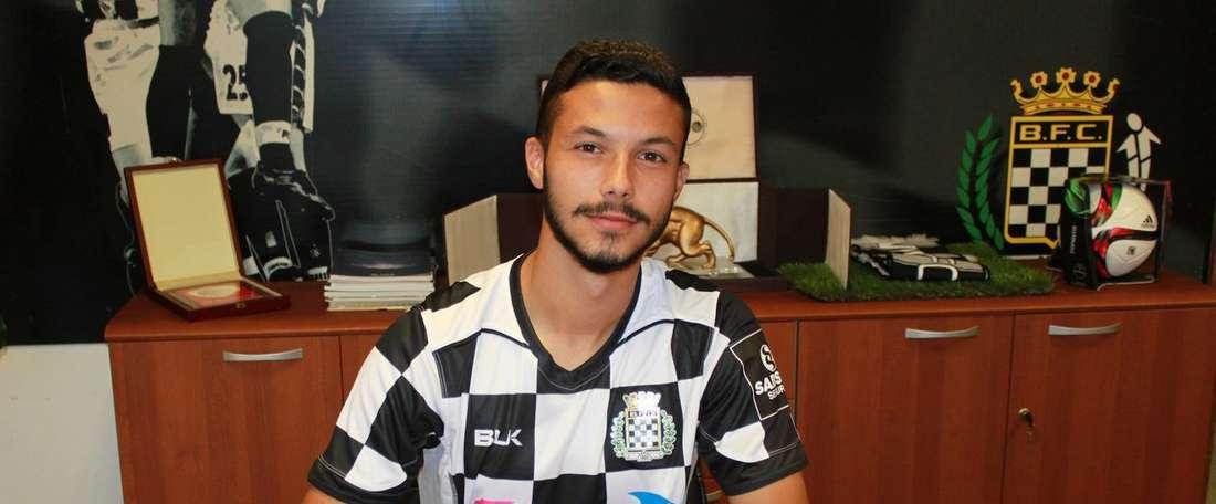 O jovem de 20 anos não se afirmou no Sporting CP... B. Twitter/BoavistaFC