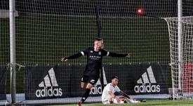 Dioni se estrenó con dos goles. Twitter/CyDLeonesa