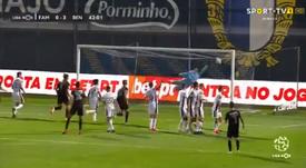 El Benfica goleó al Famalicao. Captura/SportTV
