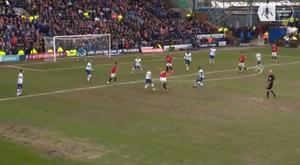 Manchester United enfrentou o Tranmere Rovers e teve golaço de Maguire. Captura/FACup