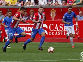 Édgar Badia evitó el gol del Sporting en numerosas ocasiones. LaLiga