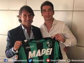 Djuricic est un nouveau joueur de Sassuolo. Twitter/SassuoloUS