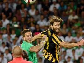 AEK precisa da confirmação para ser campeão. AFP