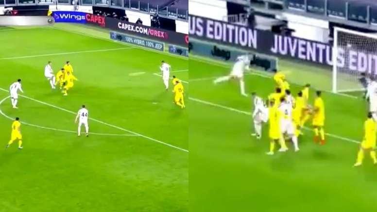 Cristiano anotó un doblete en la primera parte. Captura/MovistarLigaDeCampeones