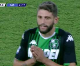 Sassuolo had four goals taken away by the VAR. Captura/MovistarLigaDeCampeones