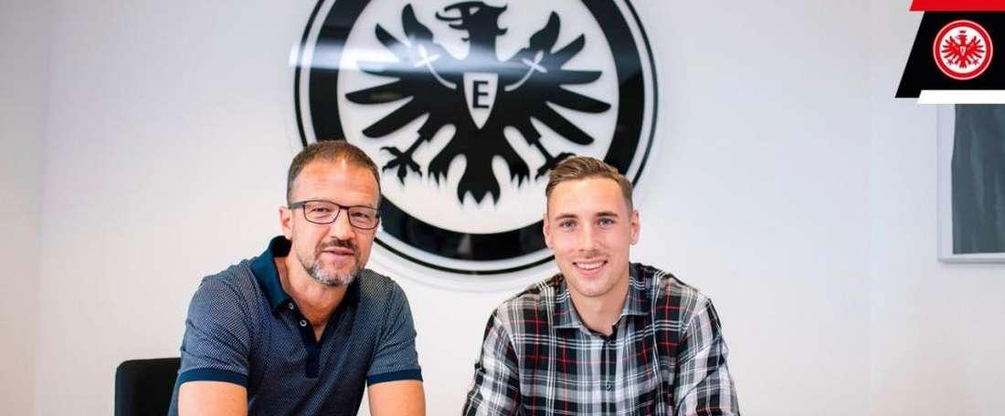 Kohr, la troisième recrue de l'Eintracht Francfort. Twitter/Eintracht