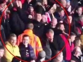 Deux supporters de Southampton arrêtés. Capture/Olé