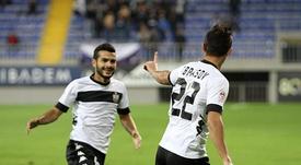 El Neftçi venció en la segunda ronda previa de la Europa League al Ujpest húngaro.NeftchiPFK/Archivo