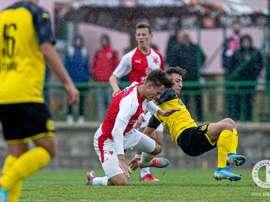 El Borussia se la ha pegado en Praga. Twitter/slaviaofficial