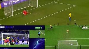 Le penalty complètement raté de Gabriel Jesus.
