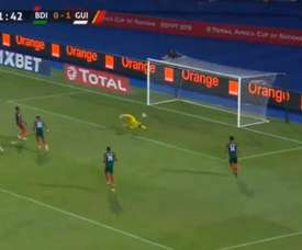 Doublé de Yattara avec la Guinée face au Burundi lors de la CAN 2019. Capture/BeinSportsHD2