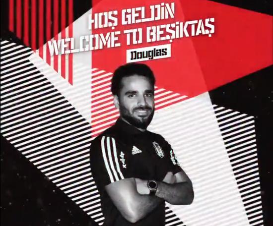 Douglas rejoint le Besiktas. Twitter/Besiktas