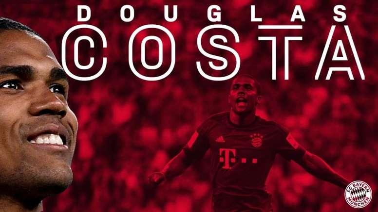 Douglas Costa has moved to Bayern. FCBayern