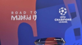 Draw for the quarter-finals and semi-finals of the Champions League. ChampionsLeague