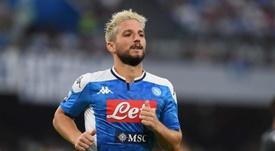L'attaccante belga del Napoli Dries Martens. Twitter/SCCNapoliES