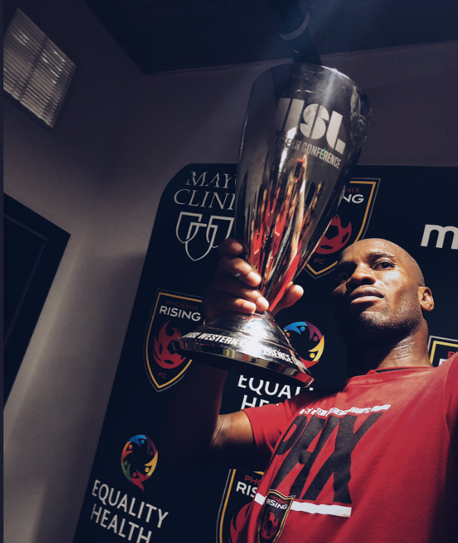 Ex-Chelsea legend Drogba helped Phoenix Rising to win the MLS Western Conference. TWITTER
