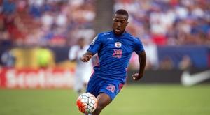 Nazon consiguió cinco goles ante Sint Maarten. AFP