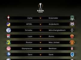 Confrontos das oitavas de final da Europa League. Goal