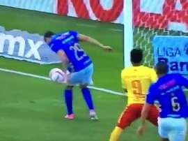 Dueñas firmó el gol tonto de la jornada. Captura