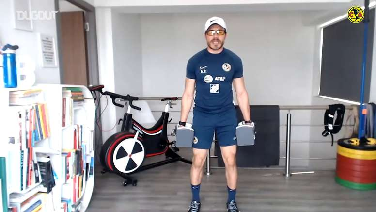 Club America's players are training at home every day. DUGOUT