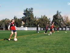 Colo Colo trained ahead of the match. DUGOUT