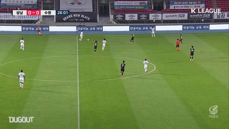 Suwon earned a 0-2 victory at Seongnam in the K-League. DUGOUT