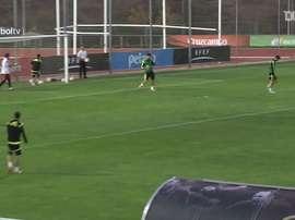 Diego Costa se lució en este entrenamiento. Dugout
