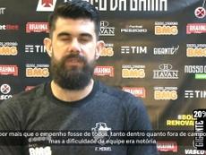 Fernando Miguel, goleiro do Vasco, comentou a atuação do time na despedida da competição. DUGOUT