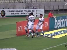 Rodrigo Muniz scores for Coritiba at Castelão. DUGOUT