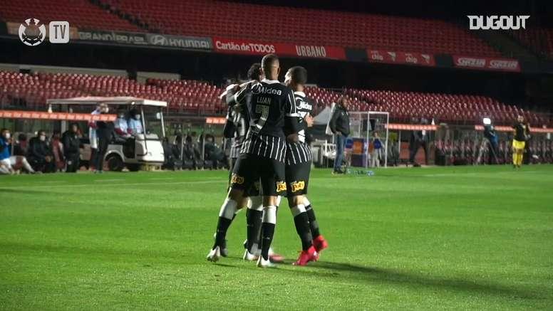 Confira os gols da vitória do Corinthians sobre o Red Bull Bragantino. DUGOUT