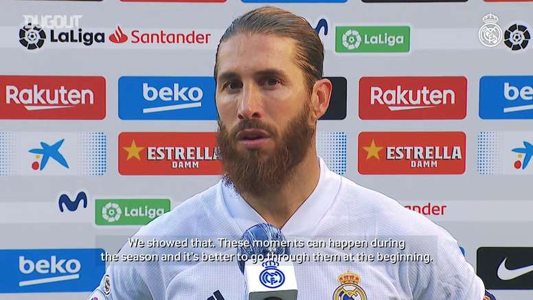 Ramos spoke after the match. DUGOUT