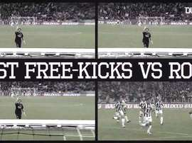 Golaços de falta da Juventus sobre a Roma. DUGOUT