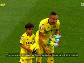 Santi Cazorla has been doing exercise at home during the lockdown period. DUGOUT