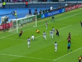 La Juventus perde contro il Barcellona. Dugout