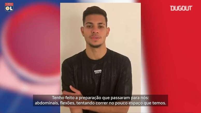 Bruno Guimarães conta como está quarentena na França. DUGOUT